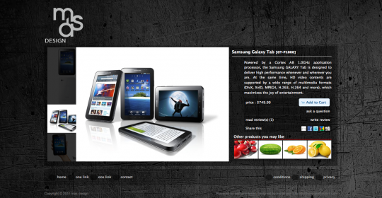 The new styled osCommerce product information page