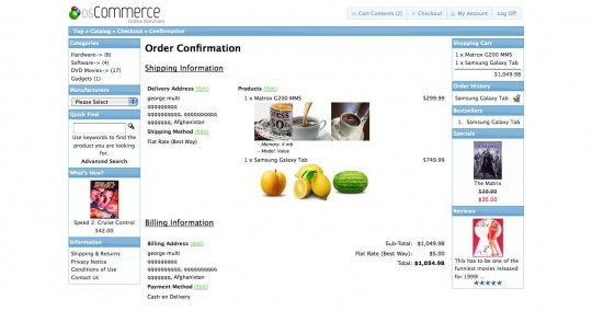 Uploaded files on checkout confirmation page